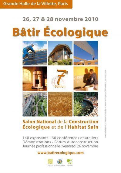 Salon b tir ecologique paris du 26 au 28 novembre for Salon a paris en novembre