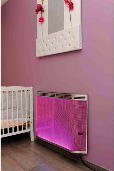 un radiateur rayonnant de couleurs chauffage. Black Bedroom Furniture Sets. Home Design Ideas