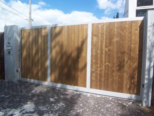 Quel portail pour votre maison vous tes 55 souhaiter for Portail bois coulissant 4m