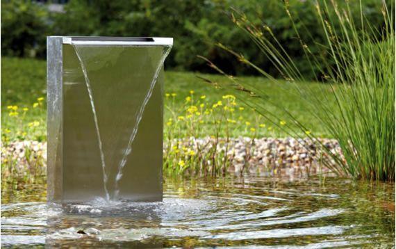 Fontaine lame d eau waterfall d oase jardins et exterieurs - Comment fabriquer une lame d eau pour bassin ...