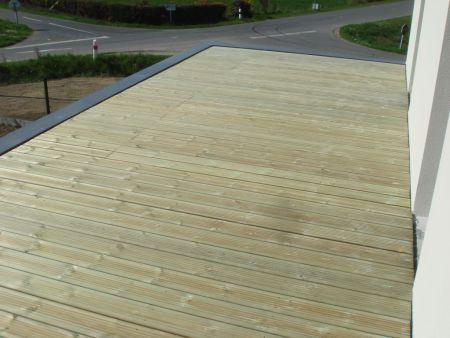 Terrasse Bois Pose Sur Terrasse Béton Via Plots Réglables - Poser une terrasse bois 2