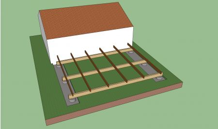 Choisir la bonne structure de terrasse bois for Realiser une terrasse en beton