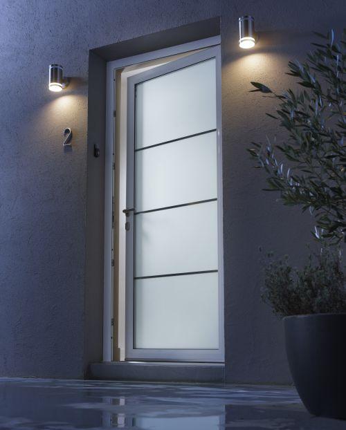 Porte d 39 entr e en verre for Prix d une porte d entree en aluminium