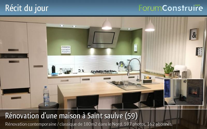 Rénovation d'une maison à Saint saulve (59)