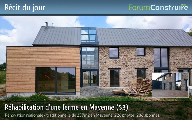 Réhabilitation d'une ferme en Mayenne (53)