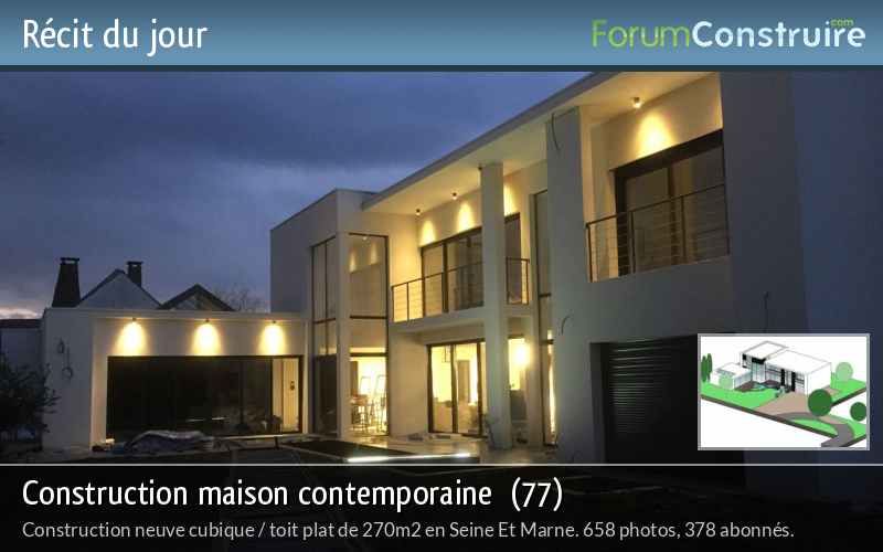 Construction maison contemporaine  (77)