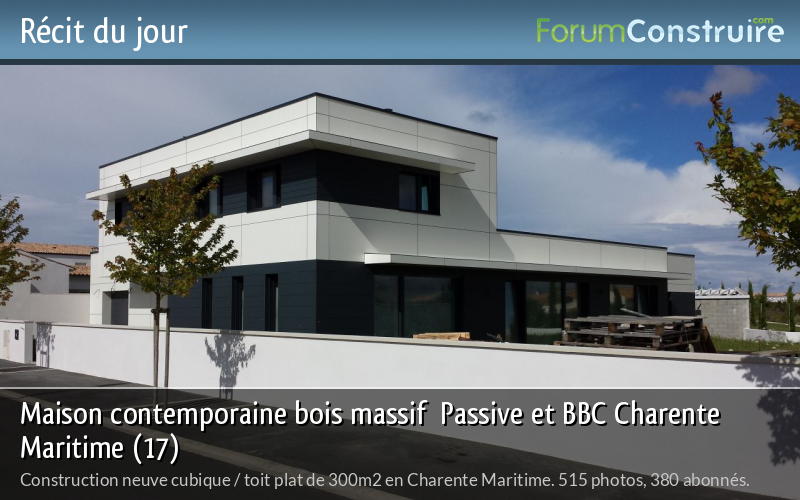 Maison contemporaine bois massif  Passive et BBC Charente Maritime (17)