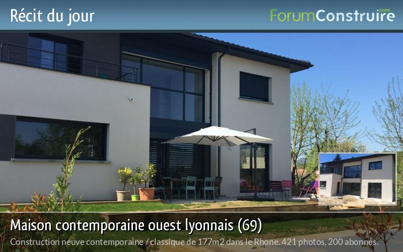 Maison contemporaine ouest lyonnais (69)