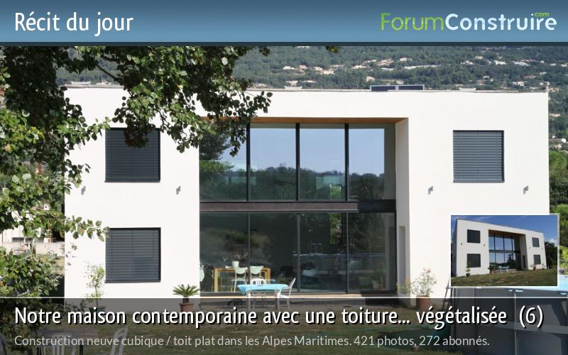 Notre maison contemporaine avec une toiture... végétalisée  (6)