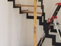 Escalier Quart Tournant Metal Et Bois