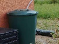 Recuperateur D'eau Aerien Cylindrique Vert , 310 L