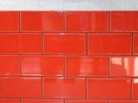 Carrelage Mural Astuce En Faience, Rouge Rouge N3, 10 X 20 Cm