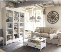 photo maisons du monde table basse en verre et bois de paulownia blanche l 110 cm