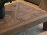 Table Basse En Orme Massif Recycle Effet Vieilli L 100 Cm Bruges