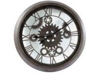Horloge Indus En Metal Noire D 82 Cm Contre-temps