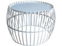 Table D'appoint En Metal Thani O51 Cm Blanc