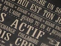 Releve Le Defi Fond Chalk