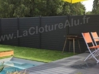 Photo Claustralu  Lacloturealu.fr Cloture A Lames Aluminium Persiennees