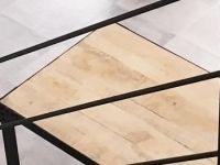 Factory Table A Manger Indus En Manguier Et Metal 8/10 Personnes L200