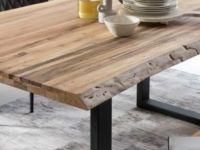 Table Tristan - Naturel Brut Et Noir