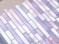 Photo Carrelage-inox.fr Mosaique Aluminium Carrelage Cuisine Credence Blend Violet