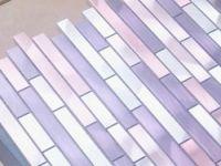 Mosaique Aluminium Carrelage Cuisine Credence Blend Violet