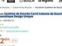 Systeme De Douche Carre Colonne De Douche Avec Mitigeur Thermostatique Design Unique