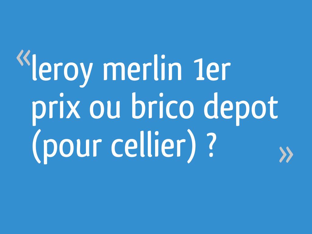 Leroy Merlin 1er Prix Ou Brico Depot Pour Cellier