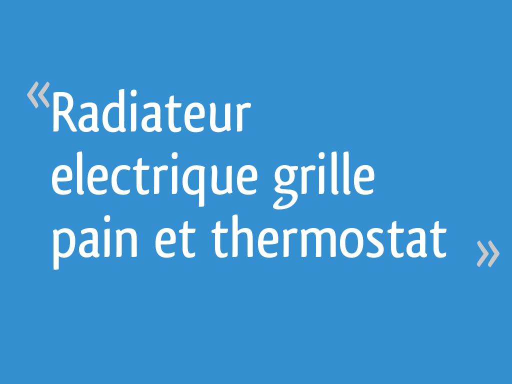 """Comment Cacher Un Vieux Radiateur radiateur electrique """"grille pain"""" et thermostat - 16 messages"""
