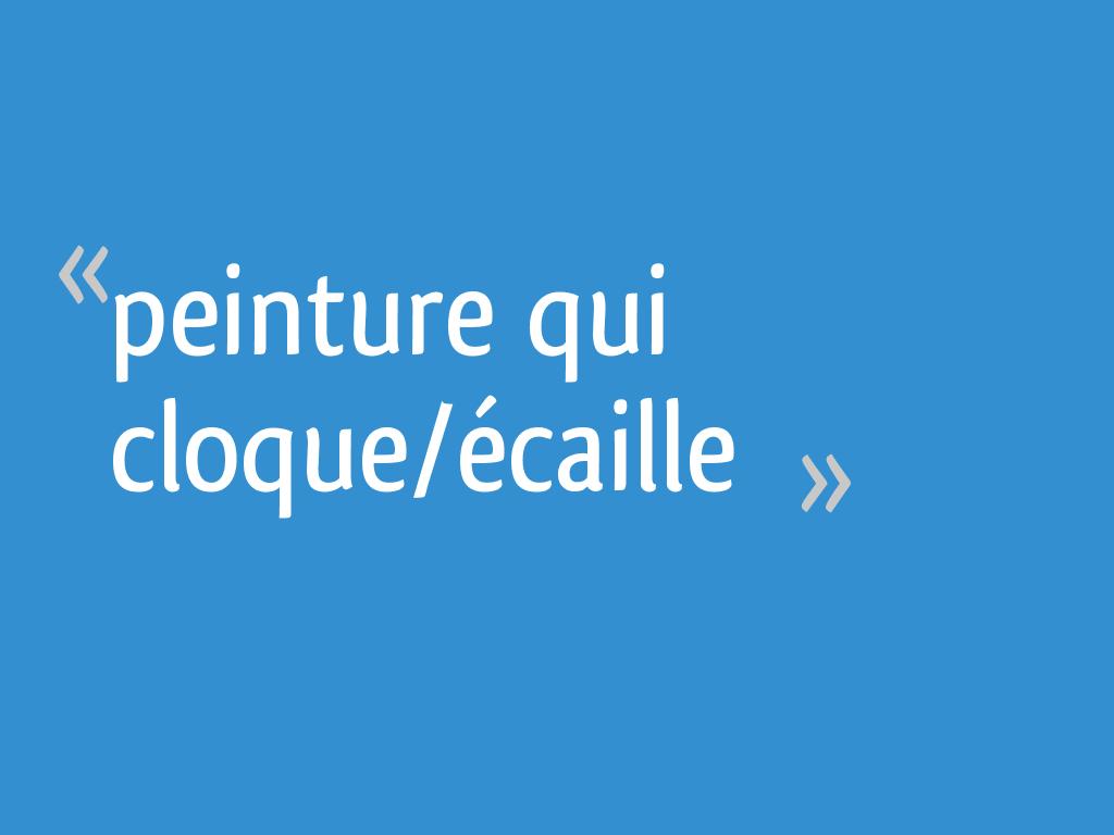 Peinture Qui Cloqueécaille 18 Messages