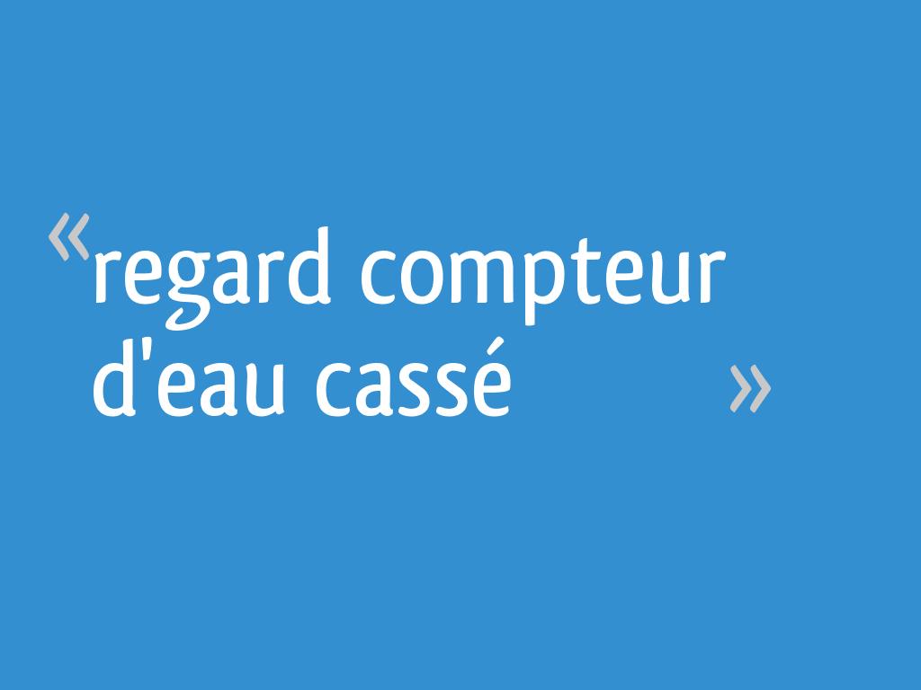 Regard Compteur D Eau Casse 8 Messages