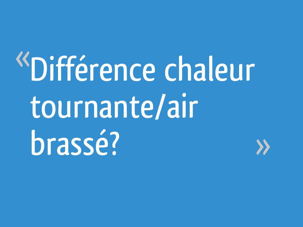 Four Air Pulsé Ou Chaleur Tournante différence chaleur tournante/air brassé? - 19 messages