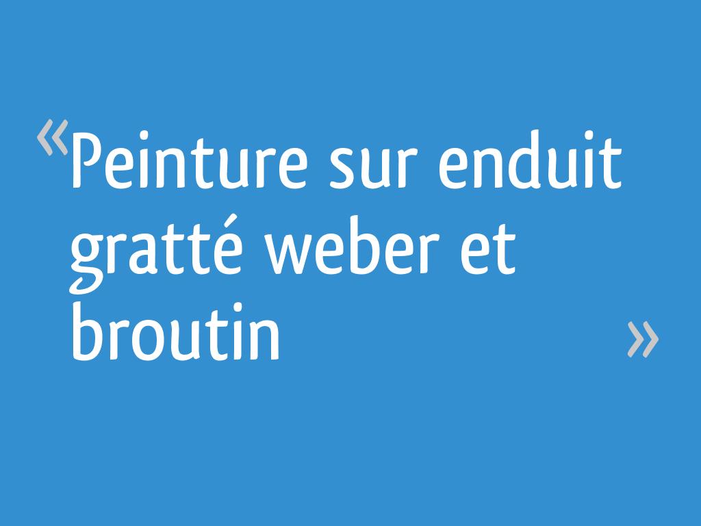 Peinture Sur Enduit Gratté Weber Et Broutin 8 Messages