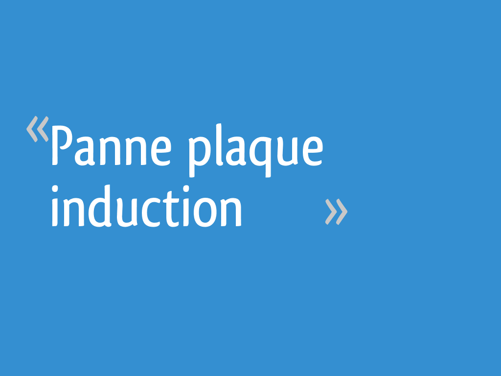 Panne Plaque Induction 62 Messages
