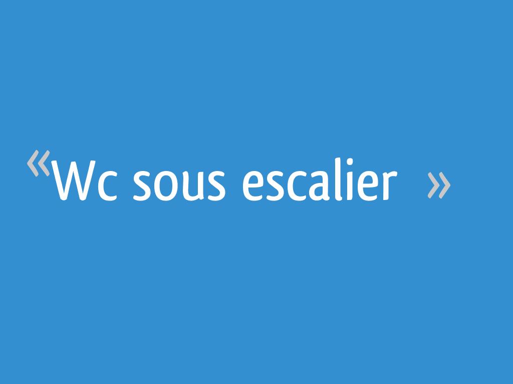 Wc Sous Escalier 9 Messages