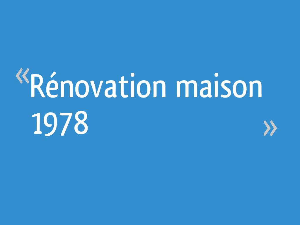 isolation maison 1978