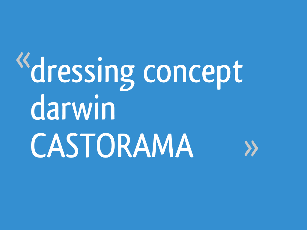 Dressing Concept Darwin Castorama 62 Messages