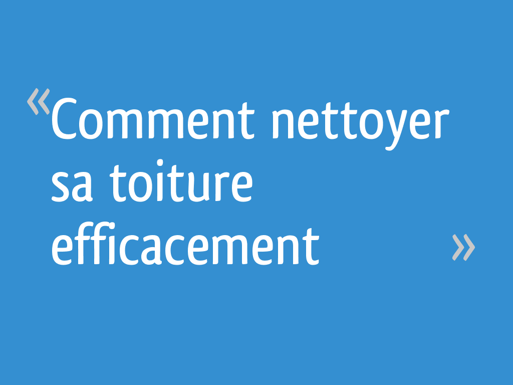 Comment Nettoyer Sa Toiture Efficacement 19 Messages