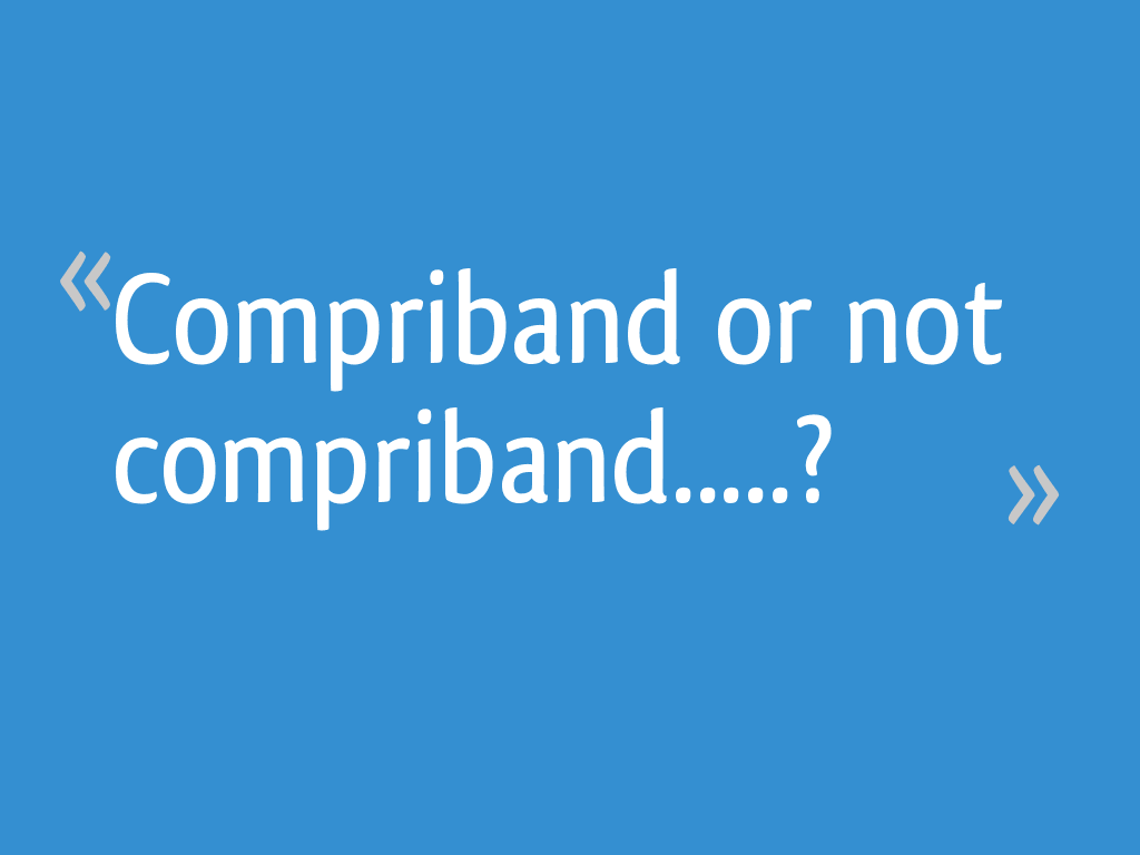 Compriband Or Not Compriband 12 Messages