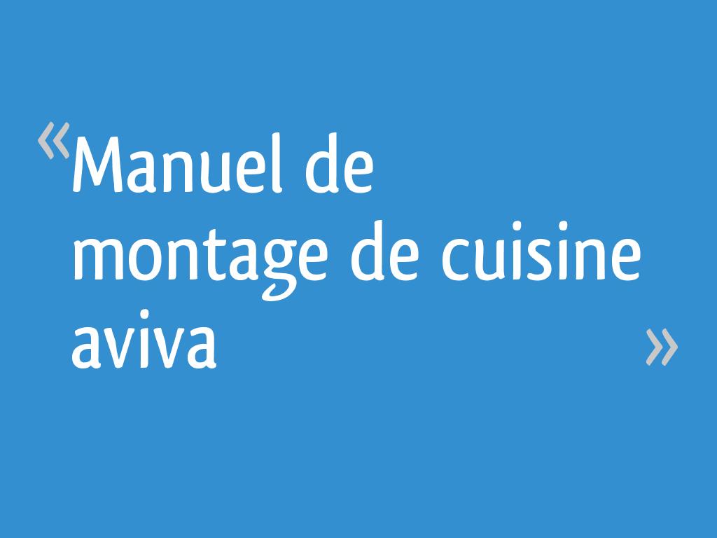 Manuel De Montage De Cuisine Aviva 4 Messages
