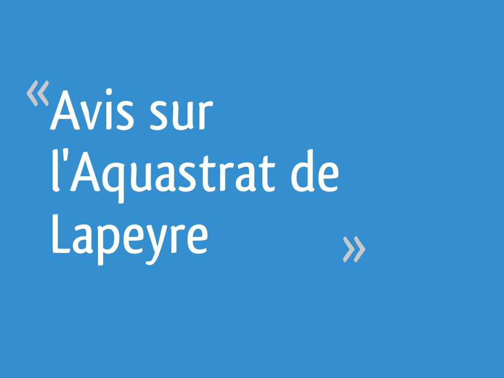 Sous Couche Parquet Flottant Lapeyre avis sur l'aquastrat de lapeyre - 4 messages