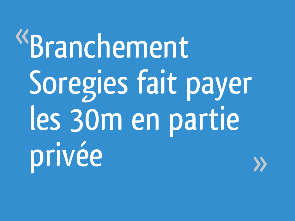 partie de branchement
