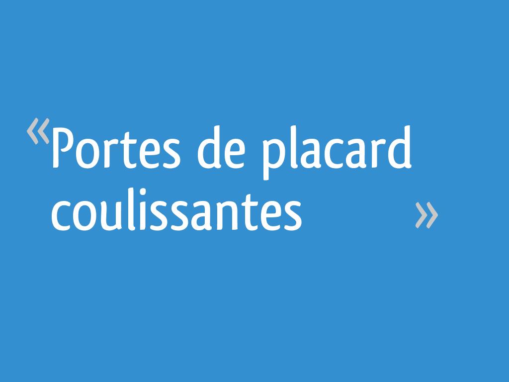 Portes De Placard Coulissantes 14 Messages