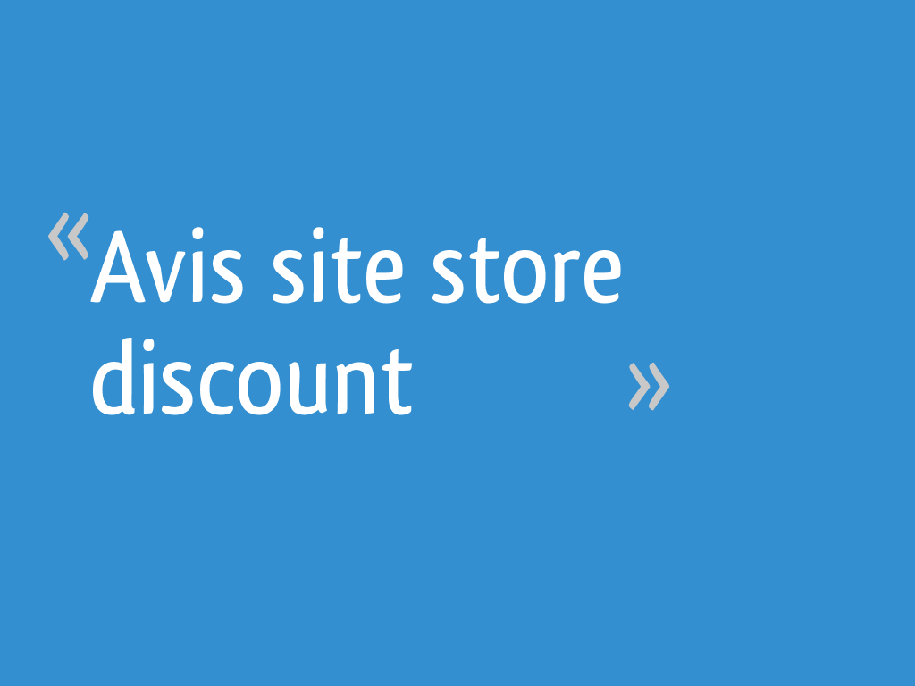 avis site store discount 41 messages page 2. Black Bedroom Furniture Sets. Home Design Ideas