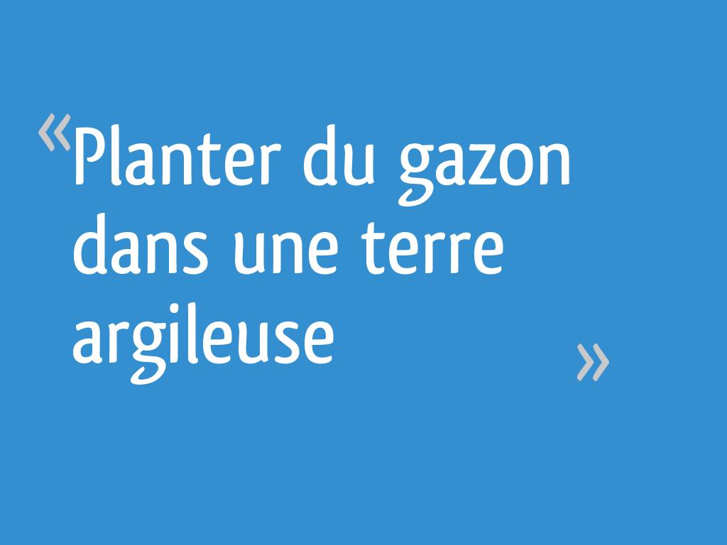 Quoi Planter Dans Une Terre Argileuse planter du gazon dans une terre argileuse - 106 messages