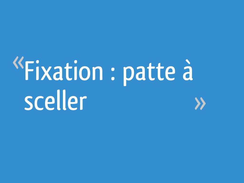 Fixation Patte à Sceller 26 Messages