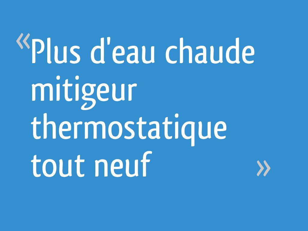 Plus D Eau Chaude Mitigeur Thermostatique Tout Neuf 11
