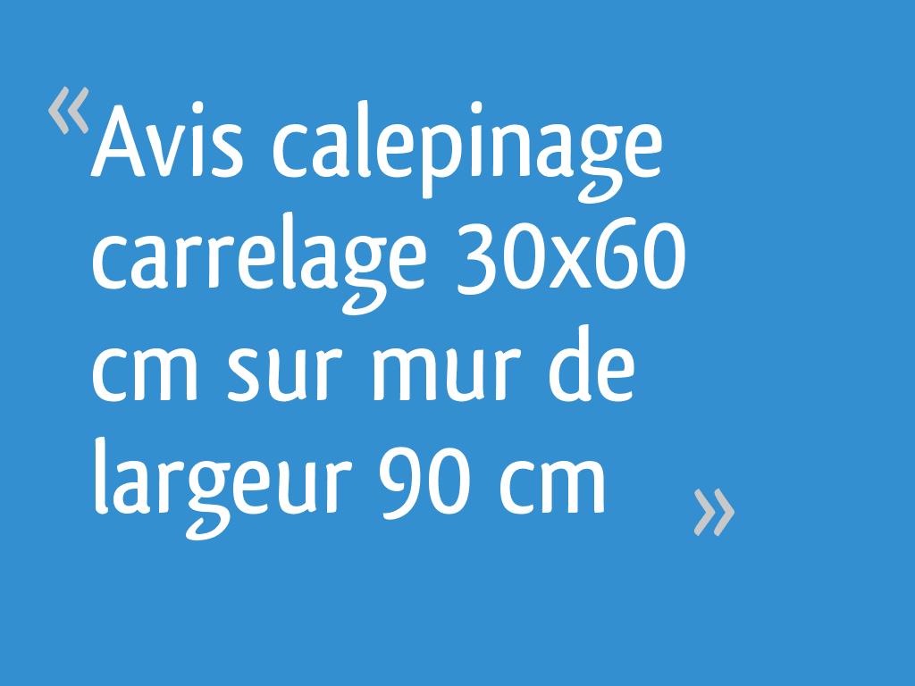 Avis Calepinage Carrelage 30x60 Cm Sur Mur De Largeur 90 Cm 19 Messages