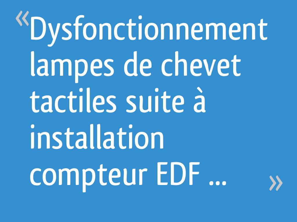 Chevet Tactiles Suite Dysfonctionnement De Installation Lampes À lKJ3TF1c
