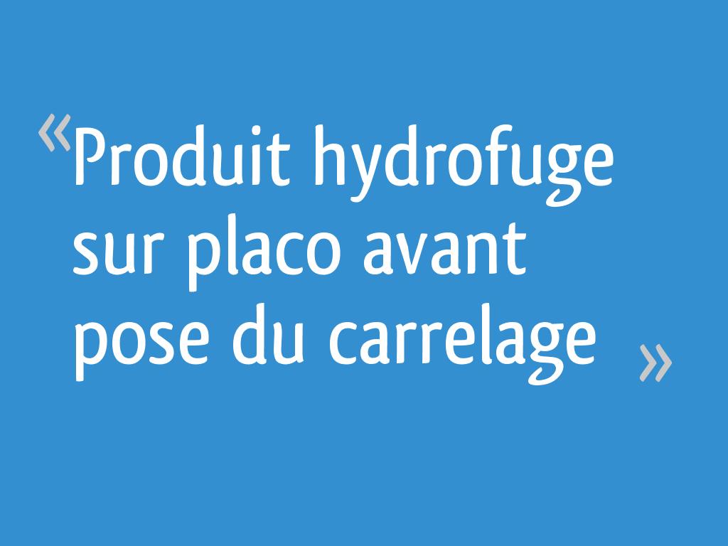 Produit Hydrofuge Sur Placo Avant Pose Du Carrelage 26 Messages
